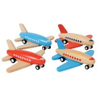 Tiger Tribe - Wooden Pull-Back Aeroplane