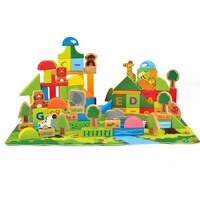 Hape- Jungle Block Play Set