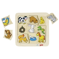 GOKI - Who Eats What? Puzzle 9pc