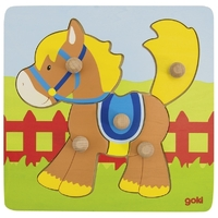 GOKI - Horse Lift-out Puzzle 5pc