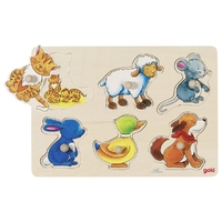 GOKI - Mother and Baby Background Puzzle 6pc