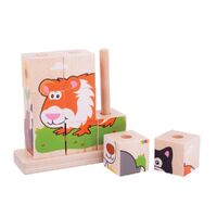 Bigjigs - Stacking Puzzle - Pets