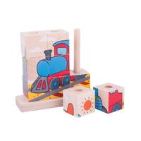 Bigjigs - Stacking Puzzle - Transport