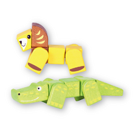 Discoveroo - Snap Blocks - Lion and Crocodile