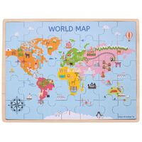 Bigjigs - World Map Puzzle 35pc
