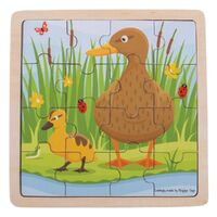 Bigjigs - Duck & Duckling Puzzle 16pc