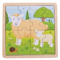 Bigjigs - Sheep & Lamb Puzzle 16pc