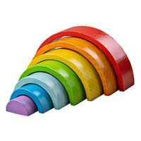 Bigjigs - Wooden Stacking Rainbow - Small