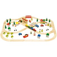 Bigjigs - Town & Country Train Set - 101pcs