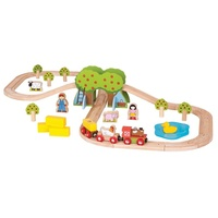 Bigjigs - Farm Train Set 44pcs