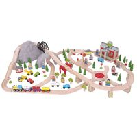 Bigjigs - Mountain Railway Set 112pcs