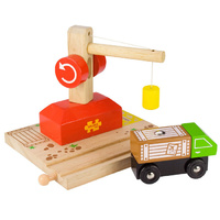 Bigjigs - Working Crane and Lorry