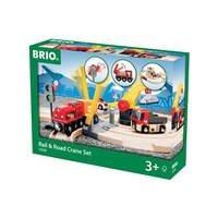 BRIO - Rail & Road Crane Set (26 pieces)
