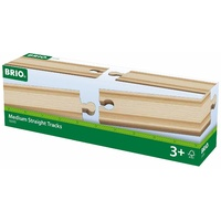 BRIO - Medium Straight Tracks (4 pieces)