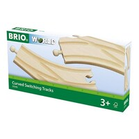 BRIO - Curved Switching Tracks (2 pieces)