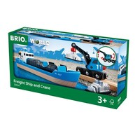 BRIO - Container Ship & Crane Wagon