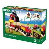 BRIO - Farm Railway Set, 20 pieces