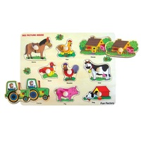 Fun Factory - Farm Peg Puzzle 9pc