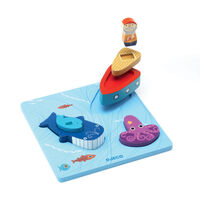 Djeco - 123 Moby Wooden Puzzle