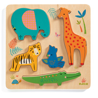 Djeco - WoodyJungle Puzzle 5pc