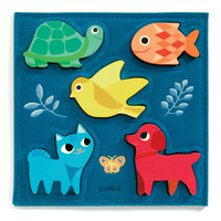Djeco - Gataki Wooden and Felt Puzzle 5pc