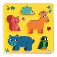 Djeco - Frimours Forest Wooden Puzzle 5pc