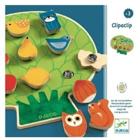 Djeco - Clipaclip Wooden Game