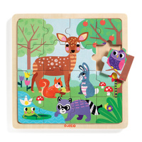 Djeco - Forest Wooden Puzzle 16pc