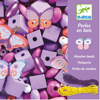 Djeco - Butterfly Wooden Beads