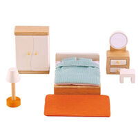Hape- All Seasons Dollhouse Master Bedroom