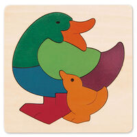 Hape - George Luck Rainbow Duck Puzzle 7pc