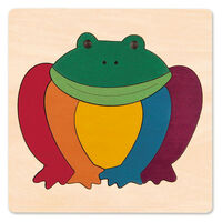 Hape - George Luck Rainbow Frog Puzzle 7pc