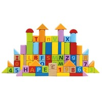 Hape- Count and Spell Wooden Blocks 80pc