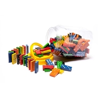 Learning Can Be Fun - Wooden Dominoes (168 pieces)