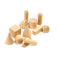 Learning Can Be Fun - Wooden Geometric Solids (set of 12)