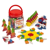 Learning Can Be Fun - Wooden Pattern Blocks (jar of 126)