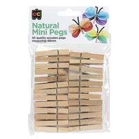EC - Natural Mini Pegs (30 pack)