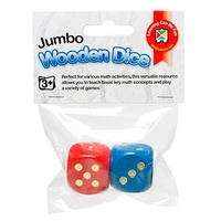 Learning Can Be Fun - Giant Wooden Dice (2 pack)