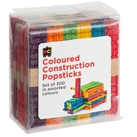 EC - Construction Popsticks Coloured (300 pack)