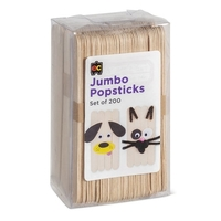 EC - Jumbo Popsticks Natural (200 pack)