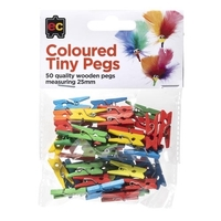 EC - Coloured Tiny Pegs (50 pack)