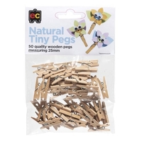 EC - Natural Tiny Pegs (50 pack)
