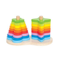 Hape - Double Rainbow Stacker