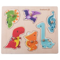 Everearth - Dinosaur Peg Puzzle 7pc