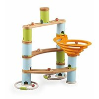 Fat Brain Toys - Bamboo Builder Marble Run 78pc