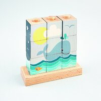 Floss and Rock - Cube Puzzle - Whale