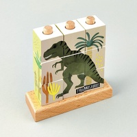Floss and Rock - Cube Puzzle - Dinosaur