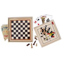 Fun Factory - 7-in-1 Wooden Games Set