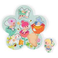 Janod - Fairies Peg Puzzle 6pc