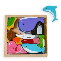 Kiddie Connect - Sea Creatures Chunky Puzzle